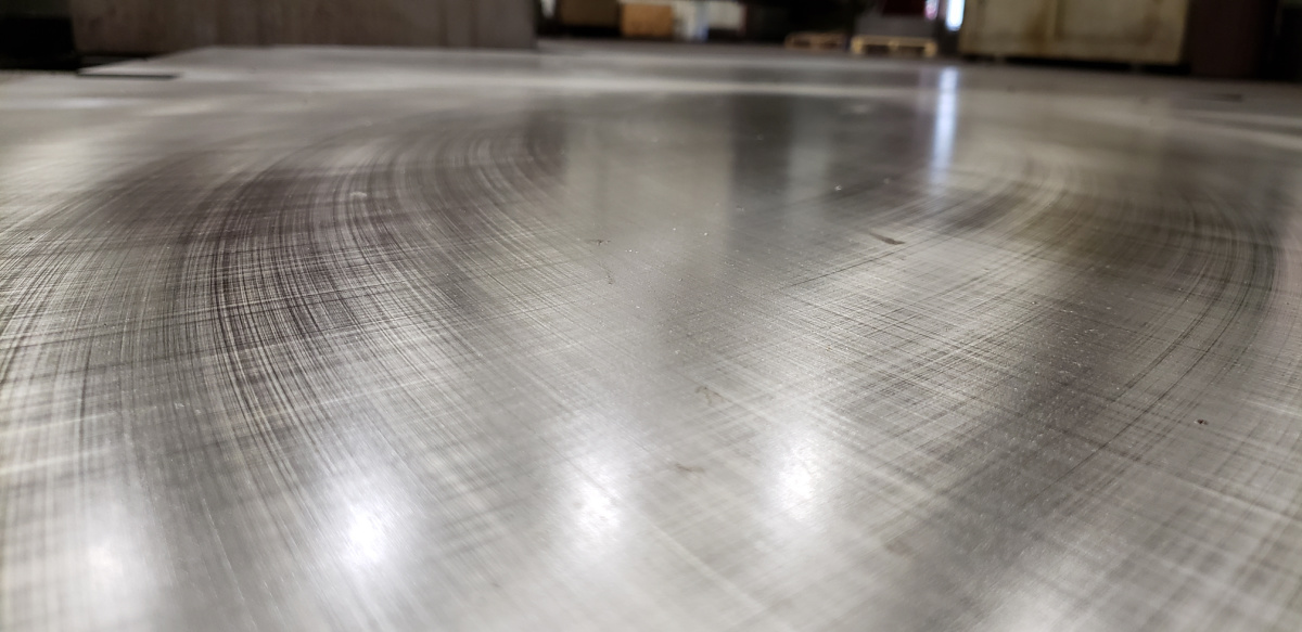 close up view Blanchard precision grinding finish Lange Grinding and Machining